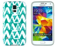 Galaxy Case, DandyCase Perfect Pattern *No Chip/No Peel* Flexible Slim Case Cover for Samsung Galaxy [Turquoise Geometric Grunge] Cute Phone Cases, Samsung Galaxy S4, Cell Phone Accessories, Flexibility, Grunge, Slim, Turquoise, Amazon, Cover