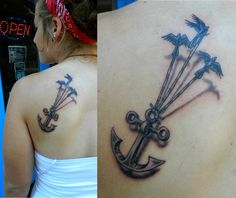 48  Anchor With Birds Tattoos Collection