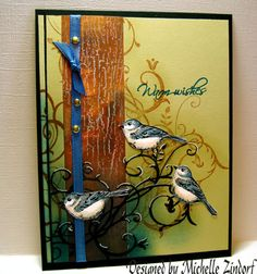 Three Birds and Baroque Motifs by Zindorf - Cards and Paper Crafts at Splitcoaststampers
