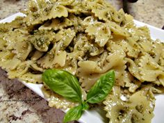 Basil Pesto is perfect over pasta, in bread recipes, in soups, or even salad dressings.   http://www.myturnforus.com/2015/10/basil-pesto.html