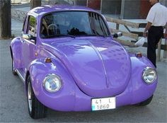 Look Mom! A Purple Volkswagen. When we lived in New Jersey we would count purple  Volkswagons on the way to the Philladelphia Zoo