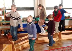 Waldorf ~ Moveable Classroom. These are lovely little wooden benches turned upside down.