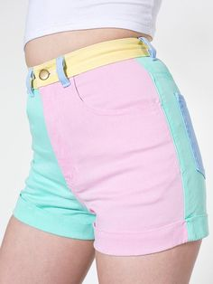 Cute, comfortable pair of shorts from American Apparel! Retro Outfits, Cute Casual Outfits, Outfits For Teens, Look Fashion, Korean Fashion, Girl Fashion, Fashion Goth, Pastel Fashion, Kawaii Fashion