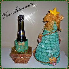 Porta champanhe e vinho.    Uma ótima opção de presente para este natal...    Não fique sem o seu...  Faça já a sua encomenda!!! R$ 60,00