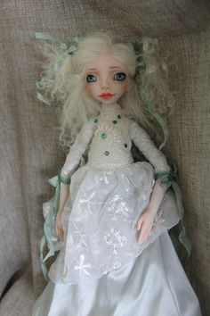 Art Doll ALICE in Wonderland by PearlMoonArts on Etsy