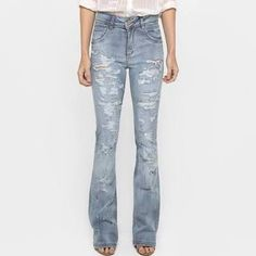 jeans rasgado claro - Pesquisa Google