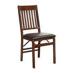 Mission Back Folding Chair in Walnut - Bed Bath & Beyond