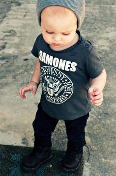 little punk. Boss Stylish KID fashion men tumblr Style streetstyle child jeans leather boots Ramones