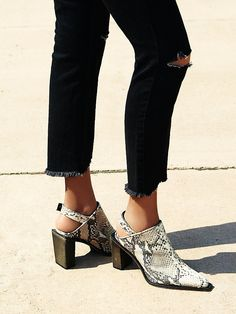 FP Collection Silver Storm Mule at Free People Clothing Boutique