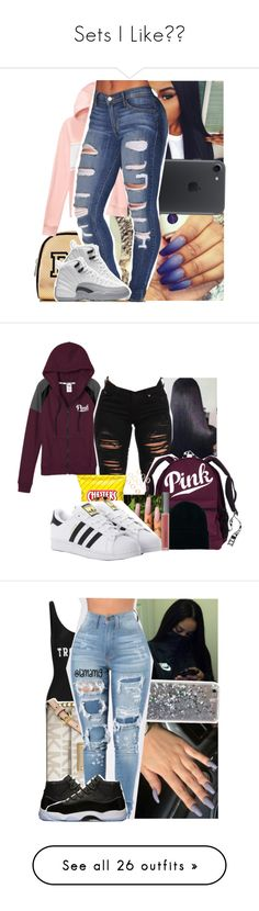 """""""Sets I Like"""" by marlei-dolce ❤ liked on Polyvore featuring Victoria's Secret PINK, Victoria's Secret, adidas Originals, American Apparel, Perricone MD, ADRIANA DEGREAS, MICHAEL Michael Kors, NIKE, Mura and Accessorize"""