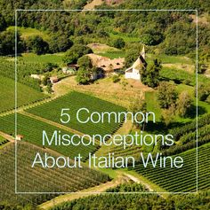 5 Common Misconceptions About Italian Wine #Wine #Wineeducation #Italy
