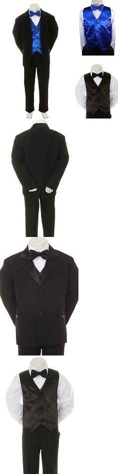 cae43fff7 Ties 57886  New Boy Kid Child Formal Wedding Party 7Pc White Suit ...