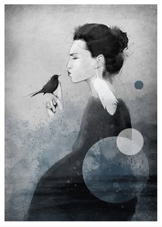 Artist Siv Storøy's calming portraits of women that show strength and vulnerability Greatest Mysteries, Mixed Media Artwork, Photo Projects, Archetypes, Community Art, Vulnerability, Art Direction, My Images, Illusions