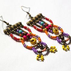 Boucles d'oreille ethnik colors