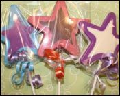 Multicolor Star Chocolate Lollipop Sweet 16 Favors