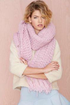 Jaya Knit Scarf - Scarves + Gloves