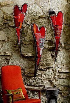 Anthony Hansen – 3 wall hearts
