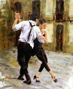 Latin and Ballroom Dance Dresses Tango Art, Tango Dance, Rock Lee, Shall We Dance, Lets Dance, Dance Baile, Art Watercolor, Dance Paintings, Argentine Tango