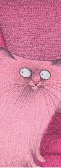 "PINK Cat illustration ""Le Mew"""