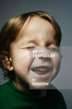 Stock Photo : young boy laughing