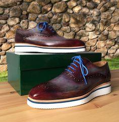 Paul Parkman Smart Casual Shoes For Men Blue & Purple Website: www.paulparkman.com