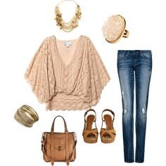 """""""pink and brown"""" by shamie2432 on Polyvore"""