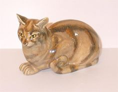 Eduard Klablena (1881 - 1933) - Ceramic cat, Austria (c. 1920)