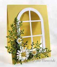 window card by Kittie Caracciolo great tutorial on how she makes these see-through widow cards