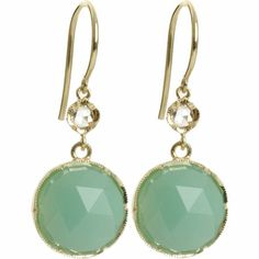 Irene Neuwirth Chrysoprase & Diamond Earrings at Barneys.com