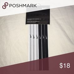 NWT 6 pack of Nike Headbands Brand new Nike headbands!! Three white and three black thin headbands that match with almost everything Nike Accessories Hair Accessories