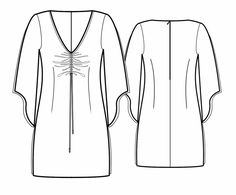 Tuniek - Naaipatroon #5694 Made-to-measure sewing pattern from Lekala with free online download.