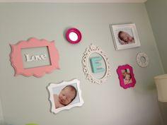 #Scatterframes #baby girls room