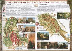 Sorano Parco archeologico Citta del tufo Map - Sorano • mappery