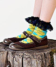 Loving this Matilda Jane Clothing Yellow Ireland Socks on #zulily! #zulilyfinds