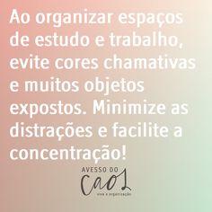 A organização pode ser uma aliada para melhorar a produtividade no trabalho e nos estudos! Lembre disso!  Na vibe da volta às aulas!