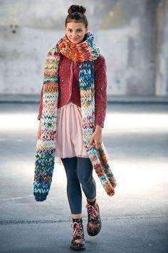 Lana Grossa SCHAL Lei Colormix/Lei - FILATI Teens No. 7 - Modell 3 | FILATI.cc WebShop