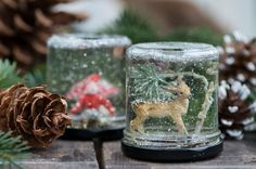 Easy to make with your children Unødvendig hverdagsmagi Christmas Time, Christmas Crafts, Christmas Decorations, Diy And Crafts, Arts And Crafts, Easy Peasy, Glass Jars, Adult Coloring Pages, Your Child
