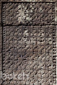 Khmer stone pattern at Ta Prohm temple | Takeo Province, Cambodia