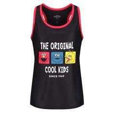 Sesame Street 'The Original Cool Kids' Racerback Kids Vest Kids Vest, Sports Vest, Big Bird, Exercise For Kids, Elmo, Cookie Monster, Biking, Kids Boys, Cool Kids
