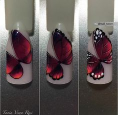The wedding manicure - the beauty of the bride is in the smallest details - My Nails Fabulous Nails, Perfect Nails, Gorgeous Nails, Love Nails, Pretty Nails, Butterfly Nail Art, Nail Art Techniques, Beautiful Nail Art, Creative Nails
