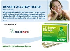 Hevert  #Allergy Relief is a trusted German homeopathic medicine. Its active ingredients are generally well tolerated and provide relief of allergy symptoms. The natural ingredients in Hevert  Allergy Relief support the body's self-healing power. Allergic symptoms such as sneezing, runny nose, watery and itchy eyes are relieved.