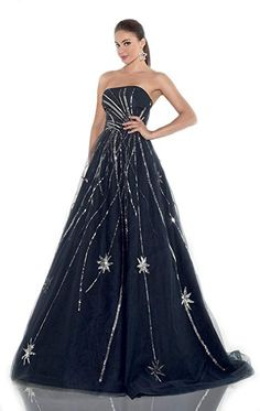 Top-Sexy Navy Blue Beaded Strapless Ball Gown Evening Formal Dresses * Click image for more details. (This is an affiliate link and I receive a commission for the sales) Sexy Evening Dress, Ball Gowns Evening, Women's Evening Dresses, Strapless Dress Formal, Formal Dresses, Custom Made, Clothes For Women, Color, Tops
