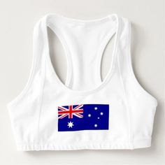 Patriotic Australian Flag Sports Bra - womens sportswear fitness apparel sports women healthy life