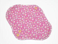 Cloth pad normal flow, upcycled Marimekko Unikko fabric, mama pad, menstrual pad, reusable cloth pad