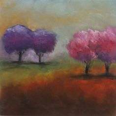 Donna Downey Pan Pastels....LOVE it!! Pink and Purple trees...So me!!!