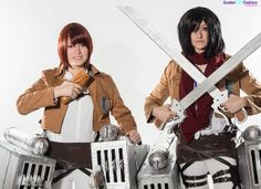 Attack On Titan Cosplay | SDFashion Anime Blast Booth