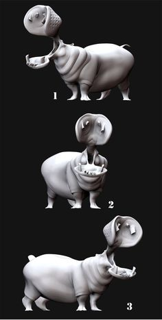 Hippo poses.. by thedoberman on DeviantArt ★ Find more at http://www.pinterest.com/competing/