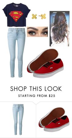 """Running Through The 6 With My Woes"" by forever-young114 ❤ liked on Polyvore featuring Frame Denim, Vans, Gorjana, women's clothing, women, female, woman, misses, juniors and cute"