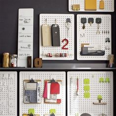 Three by Three Peggy Board Storage modern-noticeboards-and-chalkboards