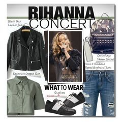 """Hot Ticket: Rihanna Concert"" by beebeely-look ❤ liked on Polyvore featuring Equipment, Dolce&Gabbana, Eva Solo, concert, leatherjacket, jeans, Rihanna and sammydress"
